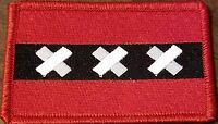 Amsterdam Flag Patch With Velcro® Brand Fastener Saint Andrew's Emblem Red 4