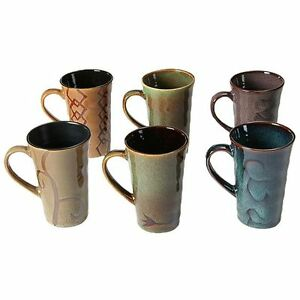NEW-Casa-Uno-Stoneware-Mug-Assorted-Colours-Set-of-6