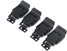 Lock Clamp Hasp Stainless Steel Spring Loaded Black Draw Latches Toggle 4 Pcs