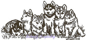 Sled And Cardinal Wood Mounted Rubber Stamp NORTHWOODS O8282 NEW