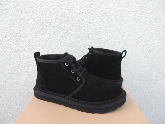 UGG NEUMEL BLACK SUEDE/ SHEEPWOOL ANKLE BOOTS, WOMEN US 6/ EUR 37 ~