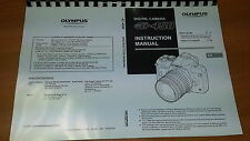 OLYMPUS E-450 DIGITAL CAMERA PRINTED INSTRUCTION MANUAL USER GUIDE 147 PAGES A5