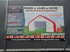 Gm 40x64x23 Double Truss 20 Oz Pvc Fabric Storage Building Shelter Barn