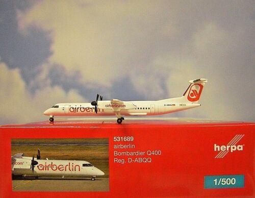 Herpa Wings 1:500 Bombardier Q400 airberlin ABQQ Albino 531689  Modellairport500
