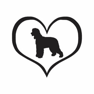Heart-Irish-Water-Spaniel-Dog-Decal-Multiple-Color-amp-Sizes-ebn1471