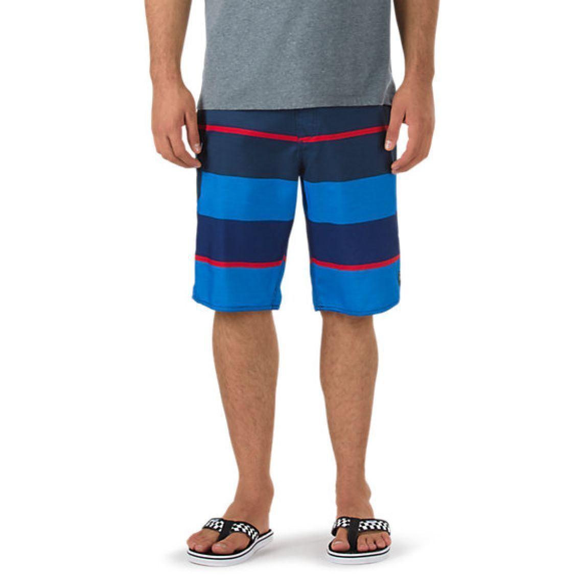 Vans Board Shorts 56th Street Shorts SZ 32 SWIM SUIT blueE Striped