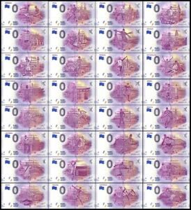Zero-Euro-Notes-Full-Set-Of-32-Teams-Of-FIFA-Russia-World-Cup-Matching-Serial