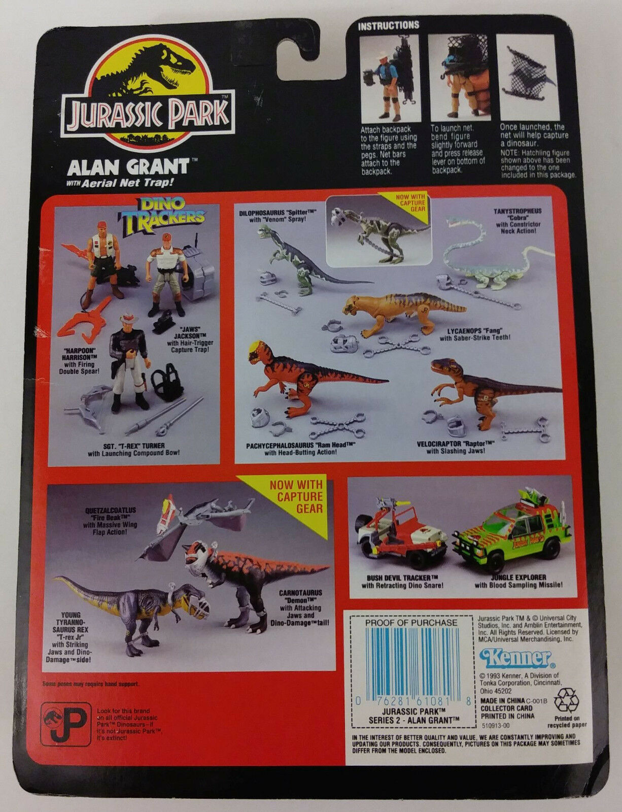 Jurassic Park Alan Grant And Dennis Dennis Dennis Nedry Series II Figures New 25a6d6