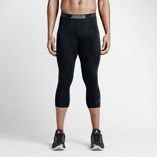 Nike Jordan All Season 3//4 Length Compression Tights Black Gray  724777 3XL