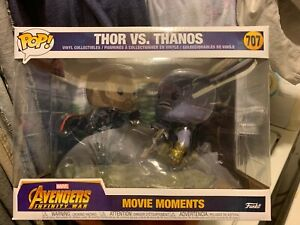 Funko POP Infinity Guerre Thor vs Thanos Marvel-Avengers Movie Moments