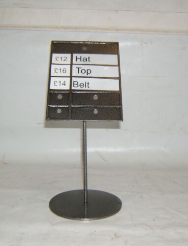 Shop//Multi Use Price Message Instruction Stand Garden Centre Etc