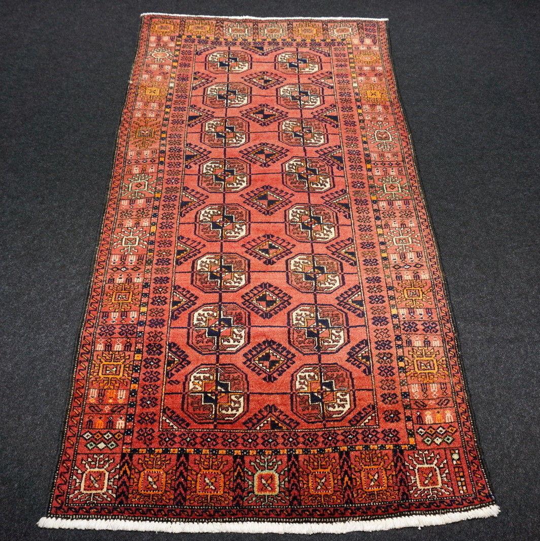 Edad Orient alfombra de 192 x 103 cm alfombra persa torkman Turkman rojorost Carpet