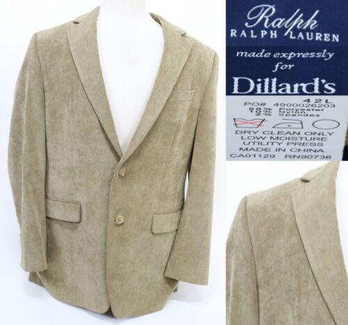 Ralph Lauren Men's Blazer Size 42 L 2 Button Blue