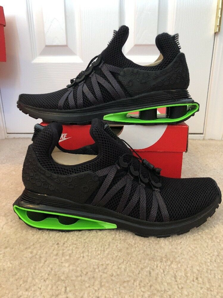 Nike Shox Gravity Luxe Green Strike Black (AR1470-003) Mens Size 13