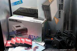 Great Atari 800XL set with Atari 1050, 1010, 1027and others (instructions,boxs)