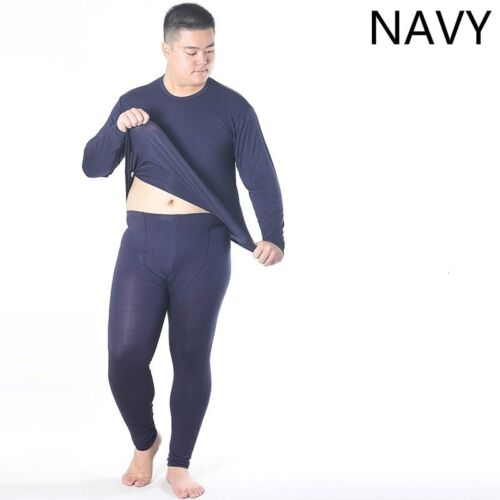 Mens Cotton Thermal Underwear Tops Pants Set Long Johns Over Size Bottom Pajama