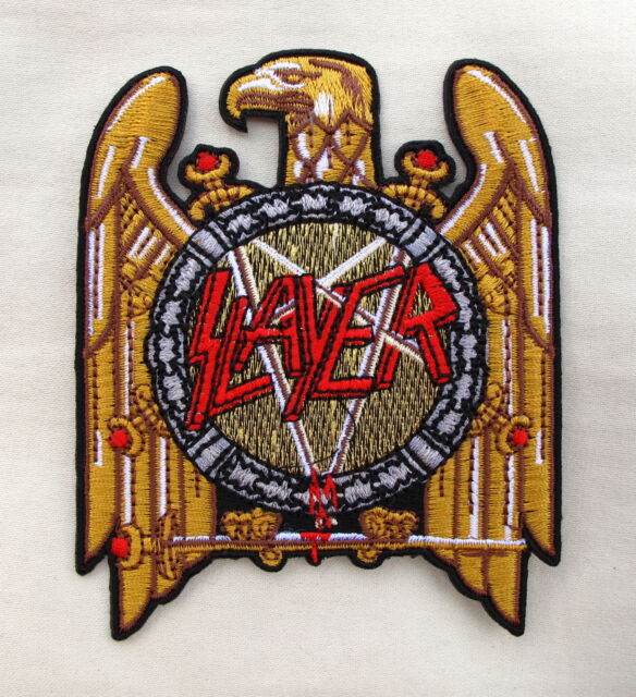 SLAYER Large  Iron On Sew On Embroidered Patch Emo Goth Punk Rock heavy metal