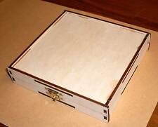 CD / DVD Hülle aus Holz Holzbox Birke gebeizt CDHülle Holzhülle Leerhülle Neu