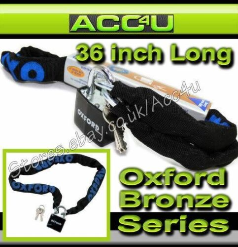 "Oxford 900mm 36/"" Bicycle Cycle Mountain Bike Safety Security Chain Padlock Lock"