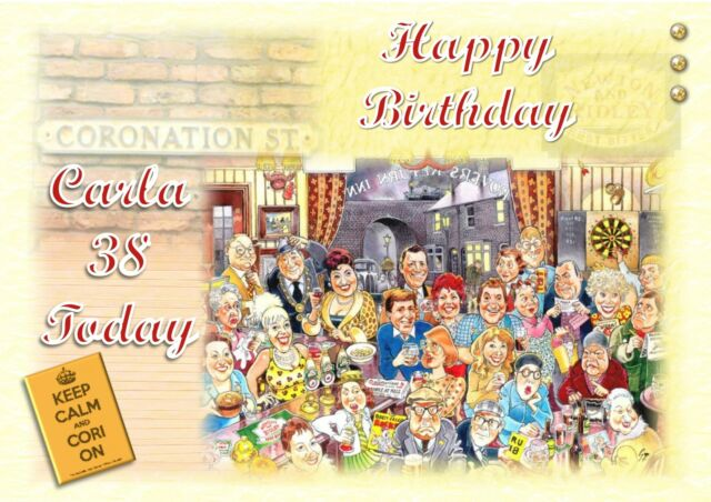 Personalised Birthday Card Vintage Coronation Street Mum Daughter
