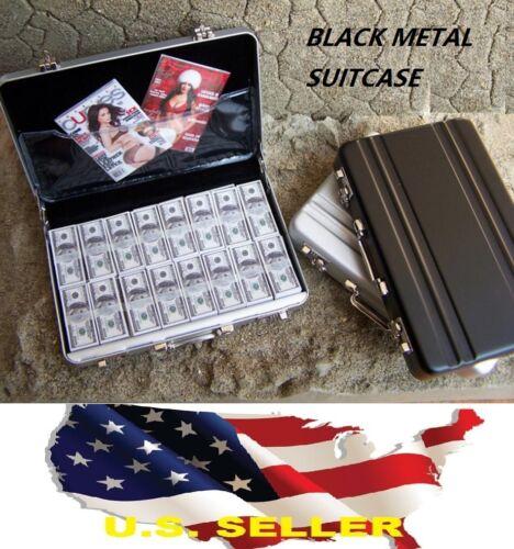 "1//6 black Metal Suitcase gun Cash Box for 12/"" Barbie Hot toys Phicen Kumik USA"