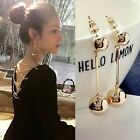 Fashion New Women Bling Ball Earrings Long Chain Drop Dangle Earrings Jewelry