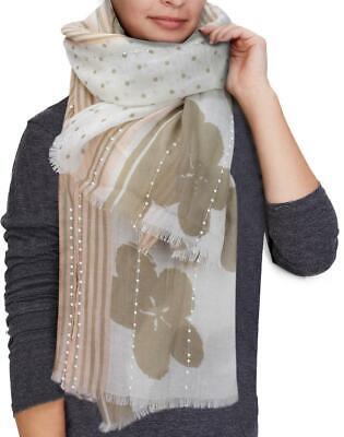 Damen Schal Seide Blumen Halstuch Tuch Stola Schultertuch lang Kopftuch NEU