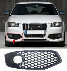 Front Tow Eye Cover Compatible with AUDI A3 2006-2008 Primed Gray