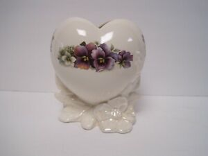 Vintage-Vallona-Starr-By-Kathie-Ceramic-Partial-Lusterware-Heart-Shape-Vase-New