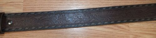 Genuine Ariat Peace Sign Leather Belt With W// Rhinestone Belt Buckle **READ**