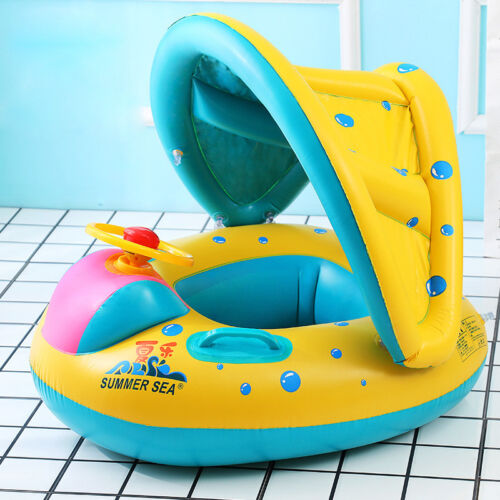 Sunshield Baby Inflating Inflatable Swimming Aid Lilo Trainer Seat Ring 6-24M UK