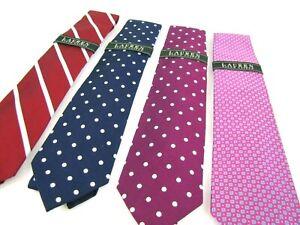 NWT-LRL-Tie-New-Ralph-Lauren-Ties-Navy-Blue-Red-Pink-Polka-Dot-Stripe-Jacquard