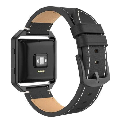 For Fitbit Blaze Band w//Frame,Genuine Leather Replacement Wristband for Fit bit