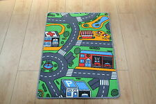 Kids Bedroom Car Play Mat Rug 61cm X 94cm Car Roads Play Nursery Road Mat