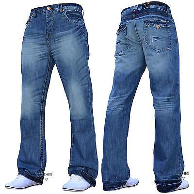 Neu Mit Etikett Neue Herren Designer Bootcut Ausgestellt Weites Bein Denim Jeans