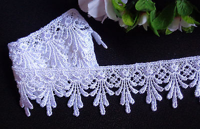 1+7//8 inch  width white selling by the yard Venise Lace