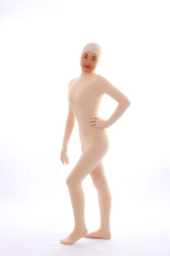 Open Face Out Nude Unisex Lycra Spandex Zentai costume Bodysuit  S-XXL
