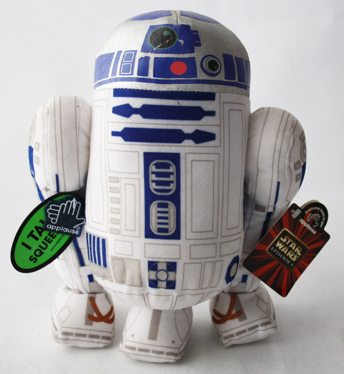 RARE STAR WARS EPISODE I R2D2 11  TALKING PLUSH TOY APPLAUSE NEW WITH TAGS