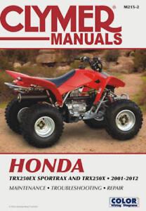 2001 2012 honda sportrax sport trax trx 250 trx250 quad atv clymer rh ebay com honda 250 atv repair manual honda atv repair manual