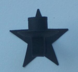 Black-Star-Wall-Sconce-Candle-Holder-3-5-Inches-Long-3-5-Inches-Wide