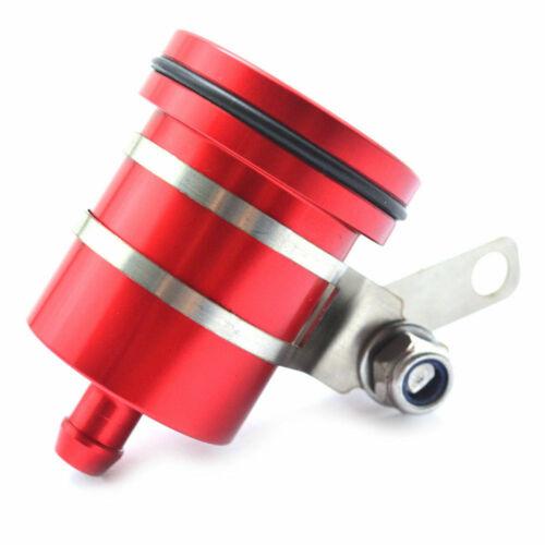 Rear Brake Clutch Master Cylinder Fluid Reservoir Oil Tank Cap Red W// Bracket