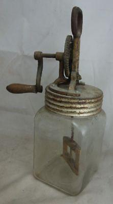 Alte Berufe Sanft Altes Butterfass Glas Buttermaschine 2 Liter Elegant Und Anmutig