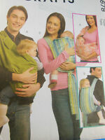 NEW McCall's M5678 PATTERN Baby Infant Shoulder Sling Carrier Sz S M L McCalls Craft Supplies