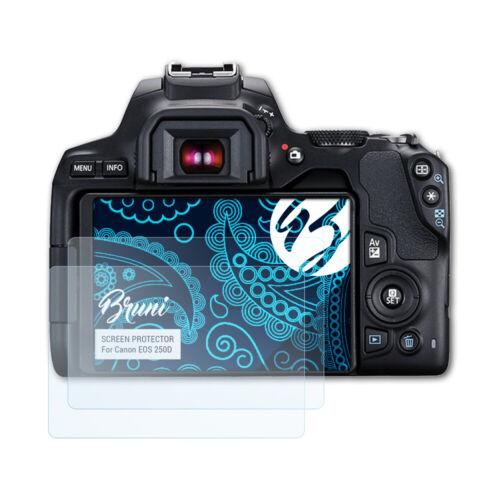 Bruni 2x Lámina Protectora para Canon EOS 250D Película Protectora