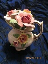 Vintage Japan Empress By Haruta Porcelain Flower Pitcher Vase