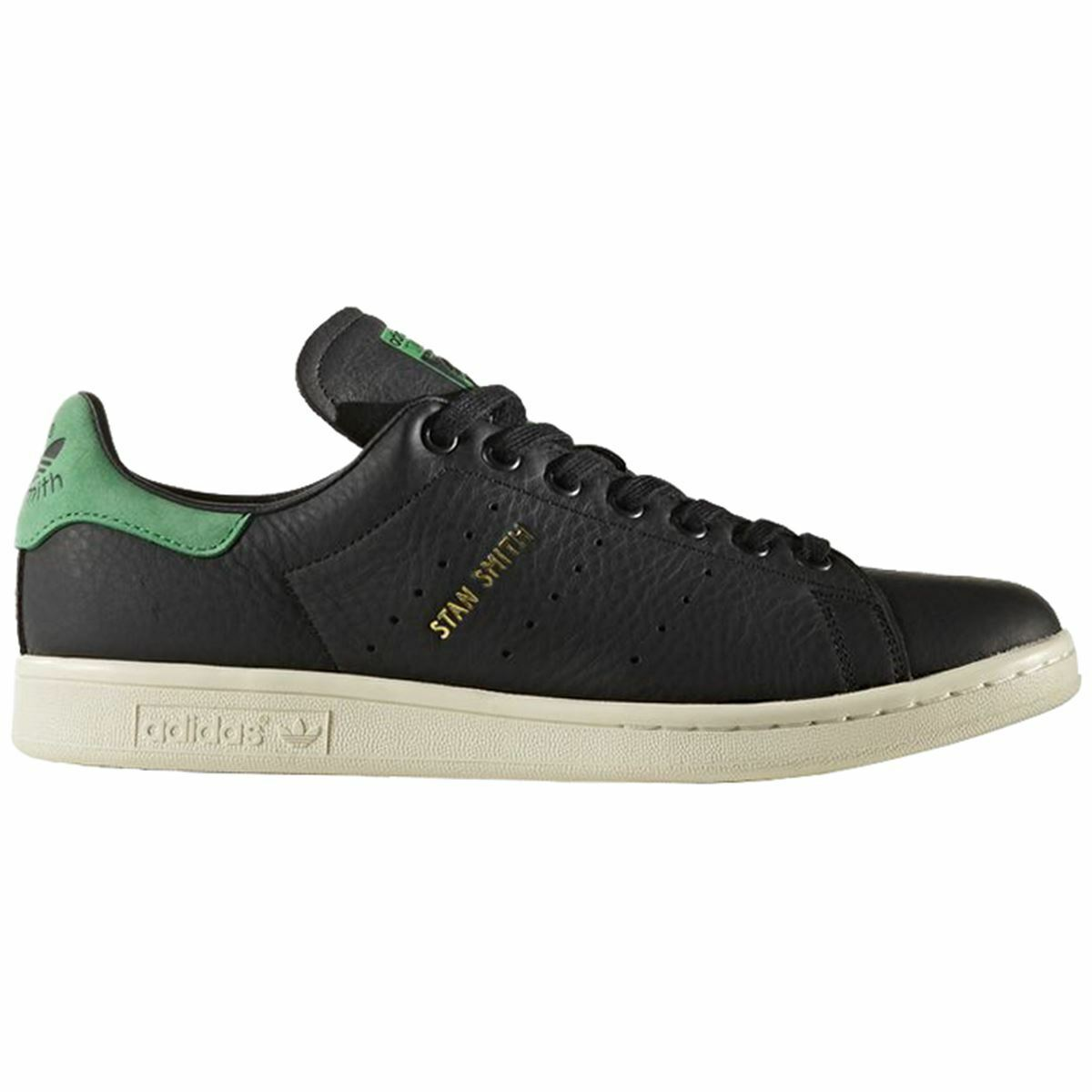 Adidas Stan Smith Core Black Mens Leather Low-top Sneakers Trainer Trainer Trainer 740e10