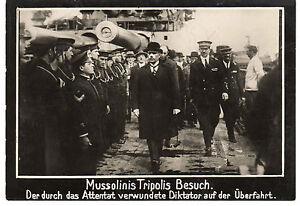 260117# Presse Photo Mussolini Après La Tentative D'assassinat #030-ch #030 Fr-fr Afficher Le Titre D'origine