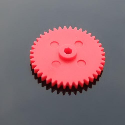 10pcs Plastic gears 40 teeth Hexagonal hole gear 0.4 mold Single gear DIY