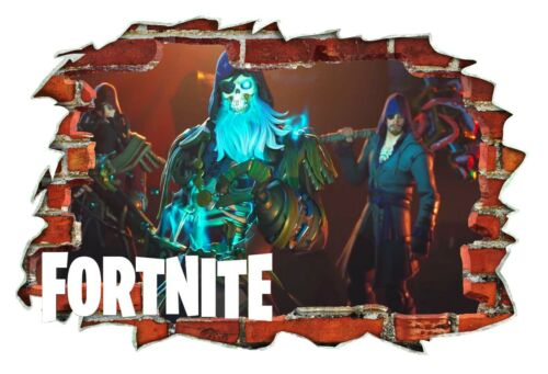 Battle Royal Pirate Skin 3D Smashed Wall Break Out Wall Sticker Decals