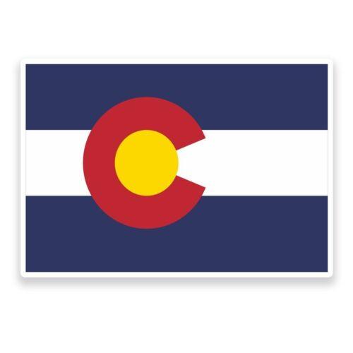 2 X Pegatina de vinilo bandera de Colorado viaje equipaje coche #9007